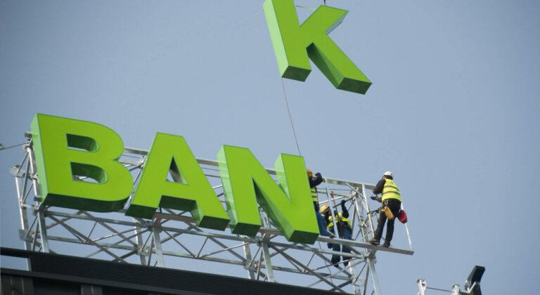 Montaż reklamy Getin Bank w Warszawie